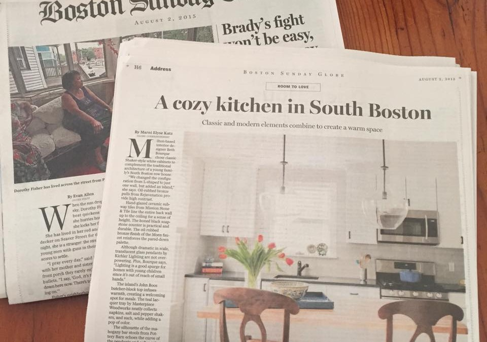 Beth Bourque Design Boston Globe Article